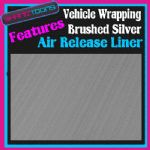 2M X 1520mm VEHICLE CAR VAN WRAP BRUSHED SILVER WITH AIR RELEASE LINER